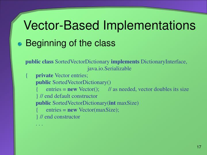 Vector-Based Implementations