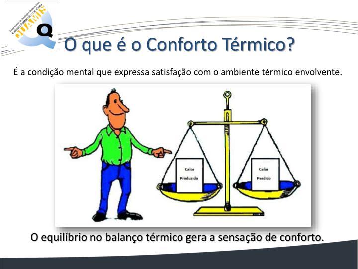 O que é o Conforto Térmico?