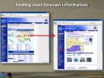 finding river forecast information