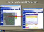 finding river forecast information1