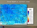 snow depth vs normal now