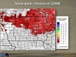 snow pack historical 2008