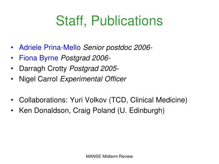 Staff publications