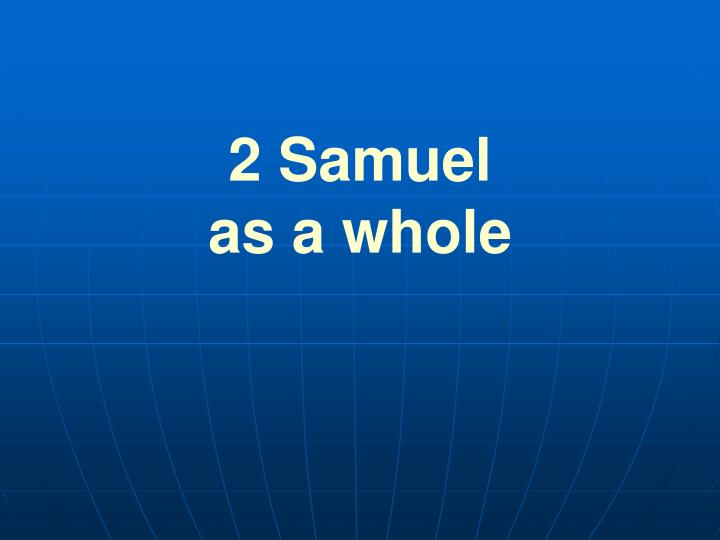 2 samuel as a whole n.