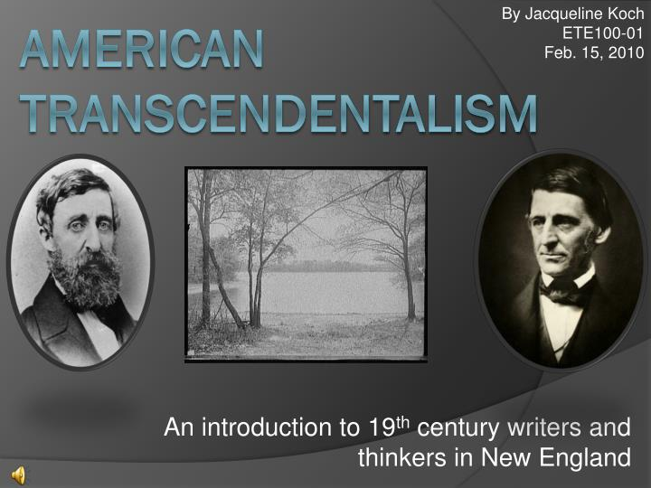 an introduction to the analysis of ralph emerson and transcendentalism