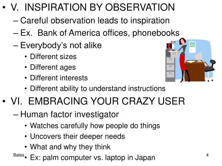 V.  INSPIRATION BY OBSERVATION