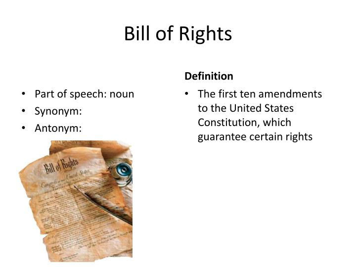 his 301 bill of rights week The bill of rights was strongly influenced by the virginia declaration of rights, written by george mason other precursors include english federalists argued that the constitution did not need a bill of rights, because the people and the states kept any powers not given to the federal government.