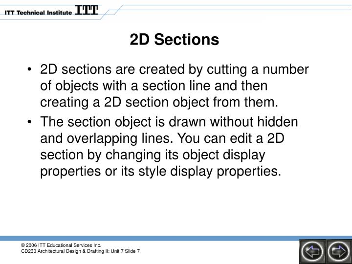 2D Sections