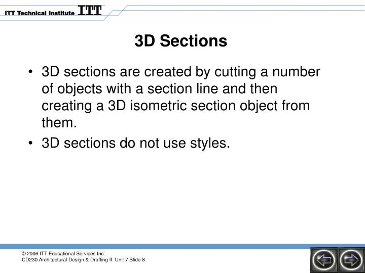 3D Sections