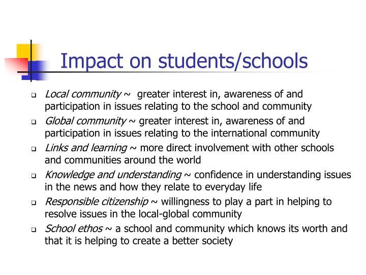 Impact on students/schools