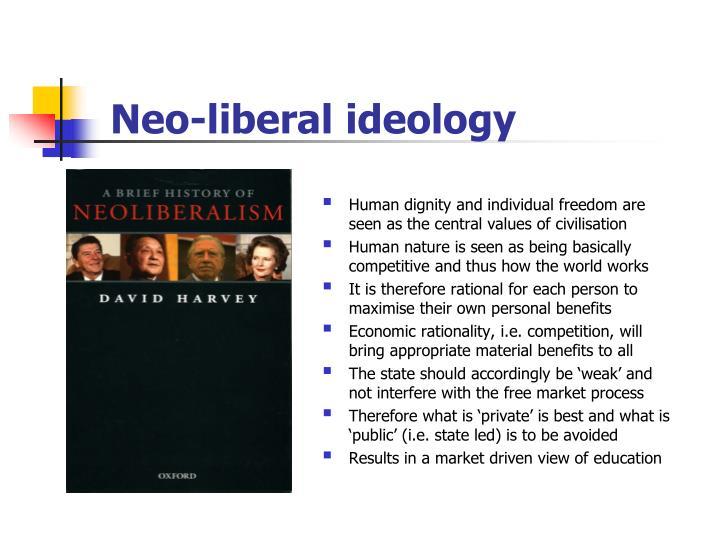 Neo-liberal ideology