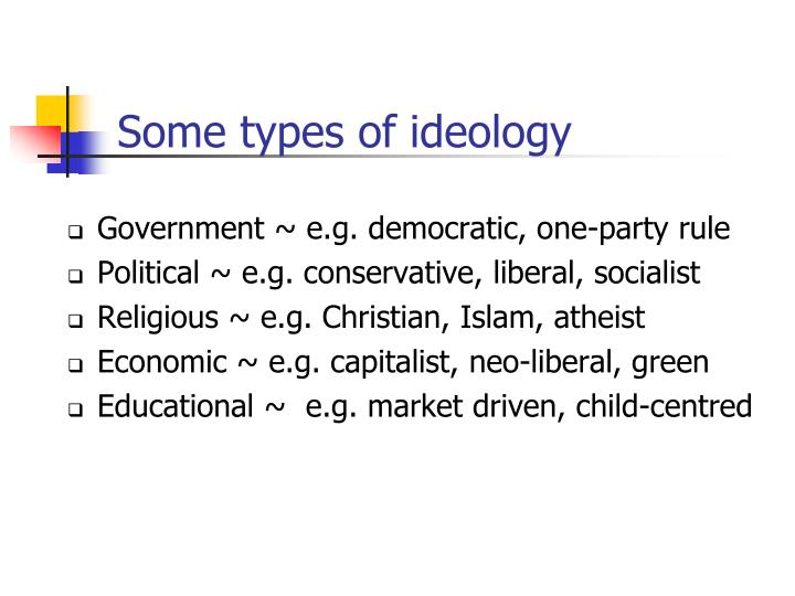 Some types of ideology
