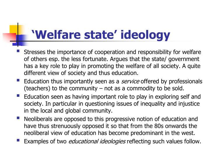 'Welfare state' ideology