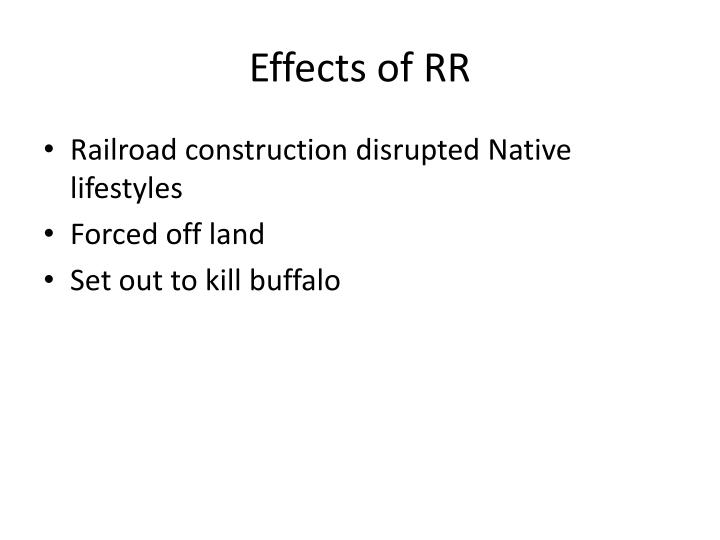 Effects of RR