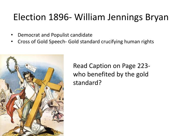 Election 1896- William Jennings Bryan