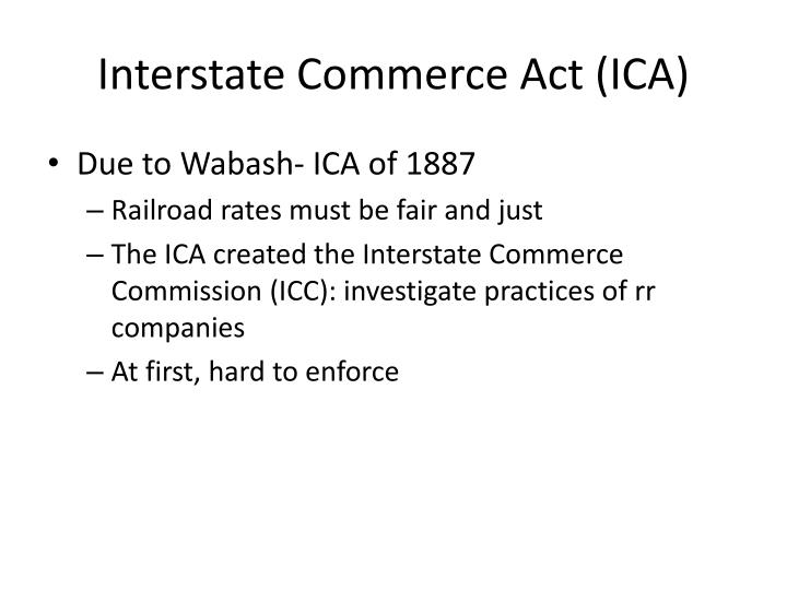 Interstate Commerce Act (ICA)