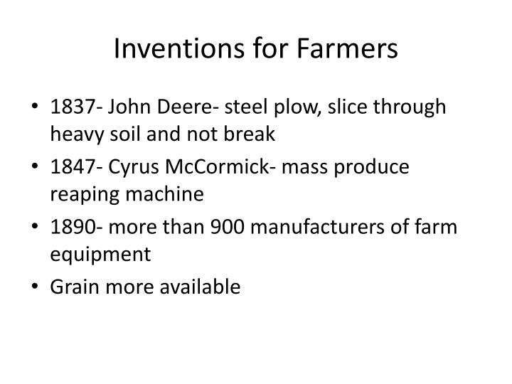 Inventions for Farmers