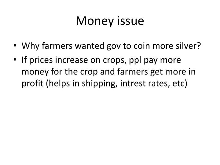 Money issue