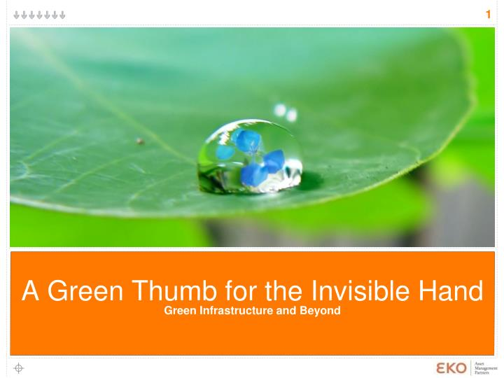 a green thumb for the invisible hand green infrastructure and beyond