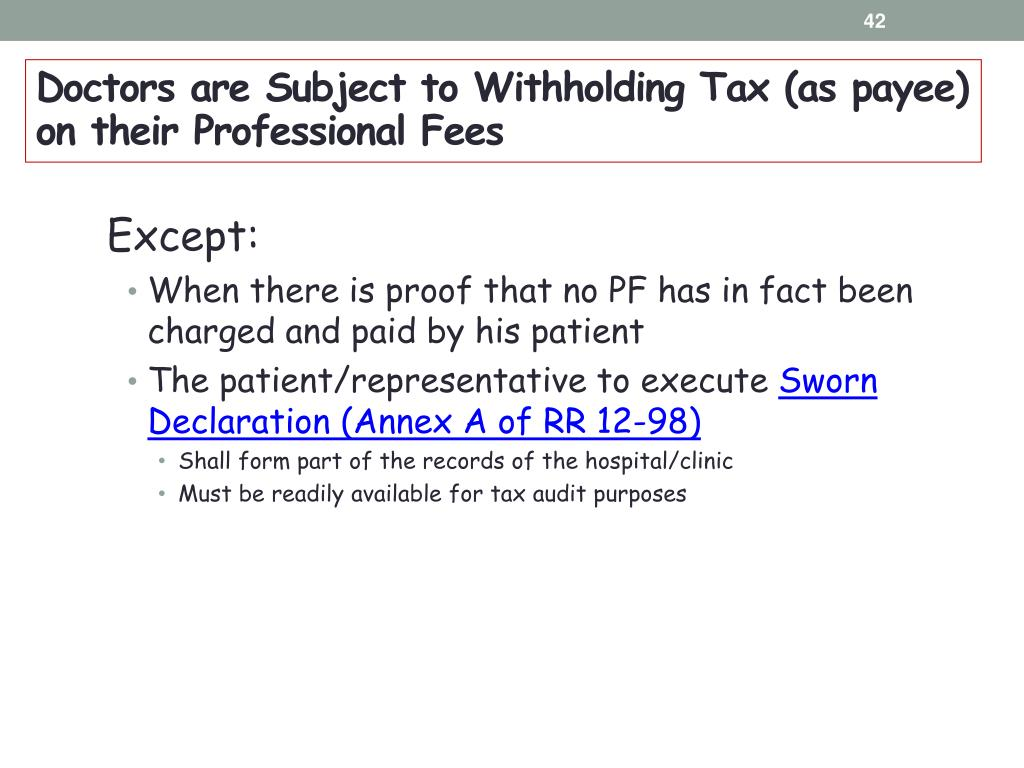 PPT - A TAX BRIEFING FOR Cashiers/Secretaries of Medical