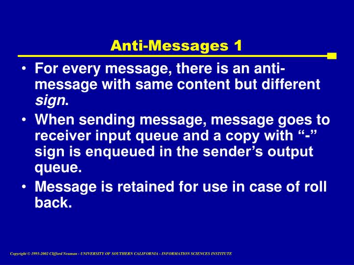 Anti-Messages 1
