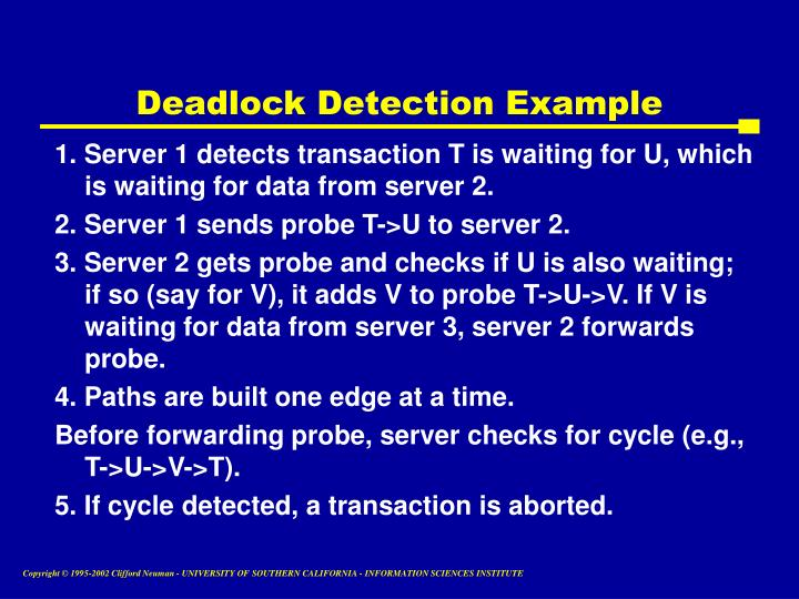 Deadlock Detection Example