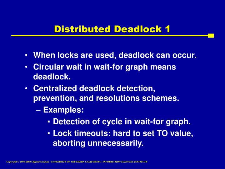 Distributed Deadlock 1