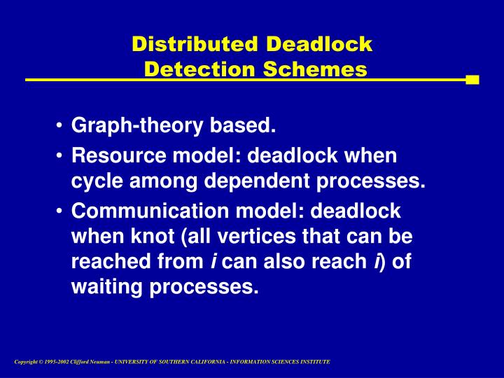 Distributed Deadlock