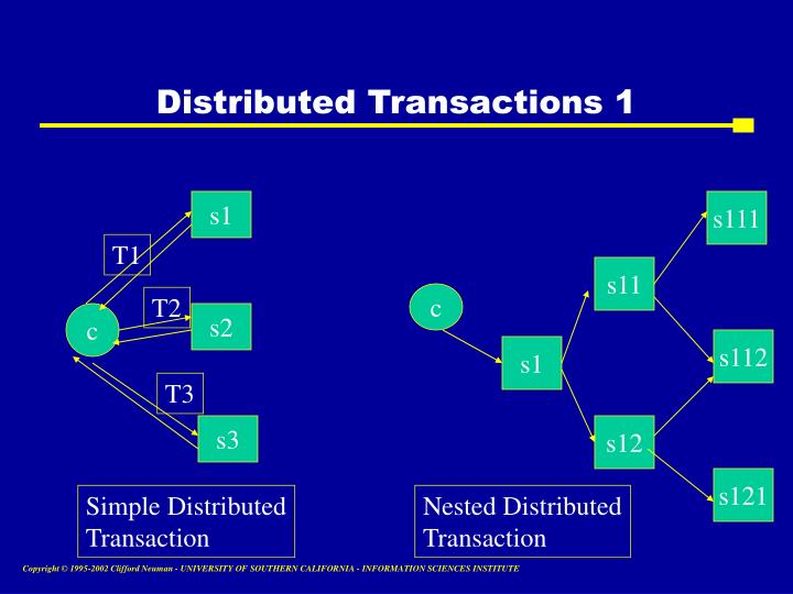 Distributed Transactions 1