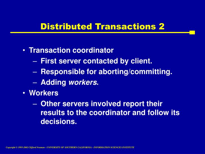 Distributed Transactions 2