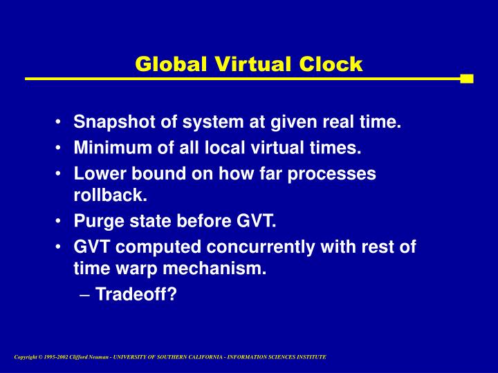 Global Virtual Clock