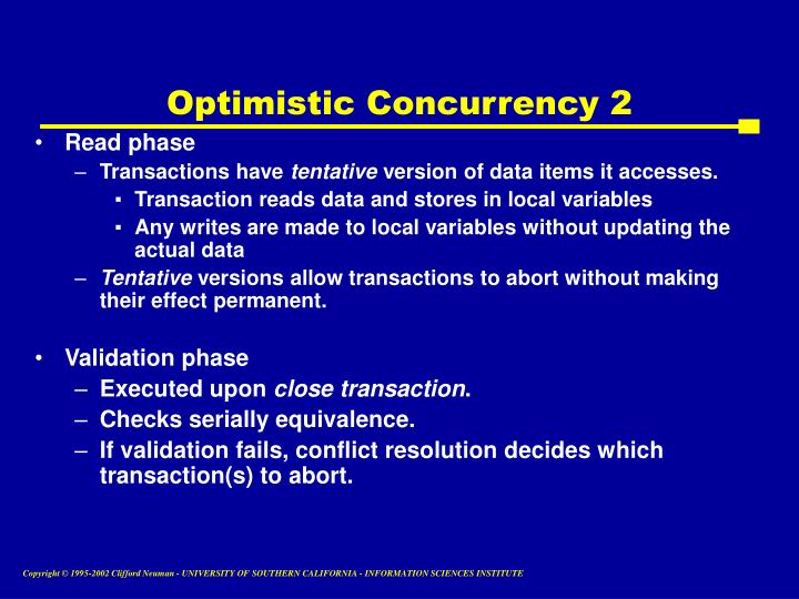 Optimistic Concurrency 2