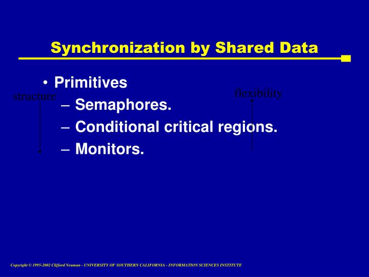 Synchronization by Shared Data