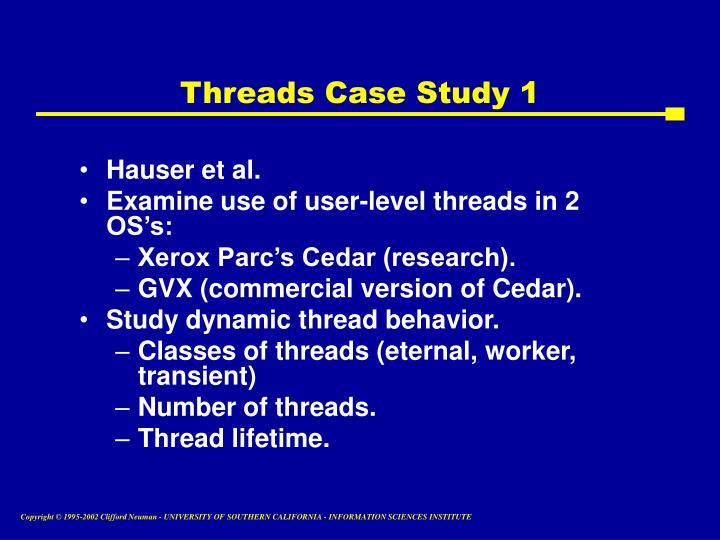 Threads Case Study 1