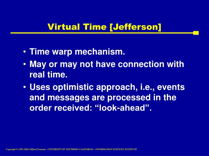 Virtual Time [Jefferson]