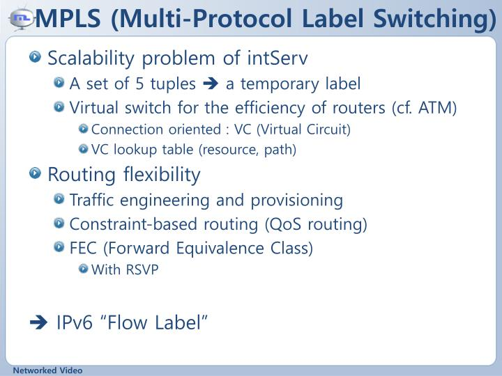 MPLS (Multi-Protocol Label Switching)