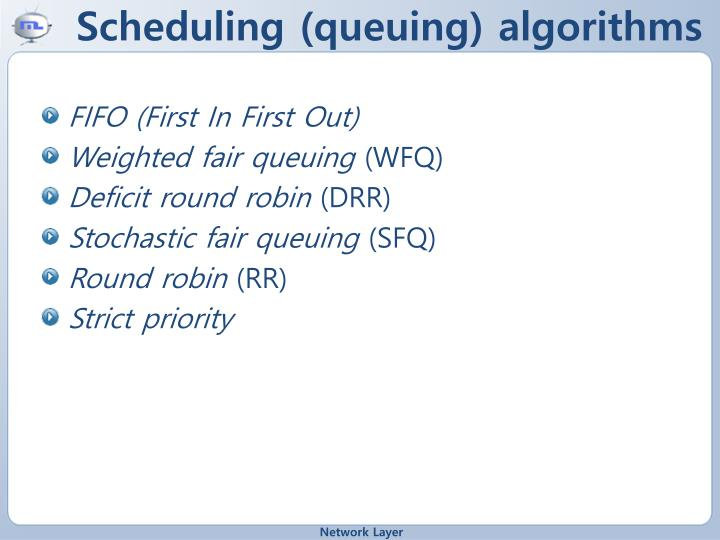 Scheduling (queuing) algorithms