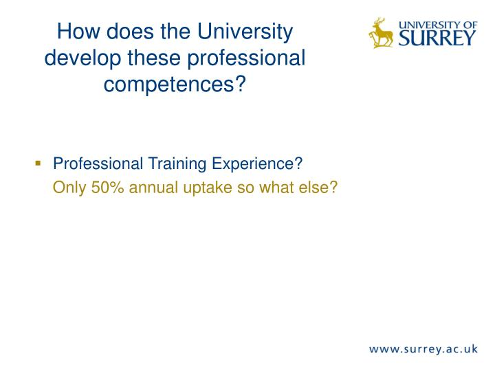 Professional Training Experience?