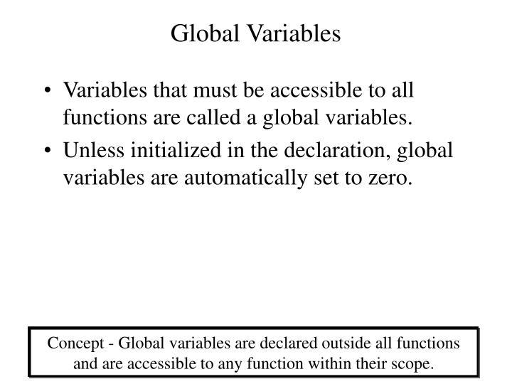 Global Variables