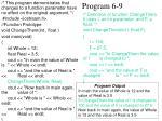 program 6 9