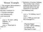 return example