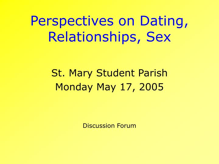 Sex and relationship forum