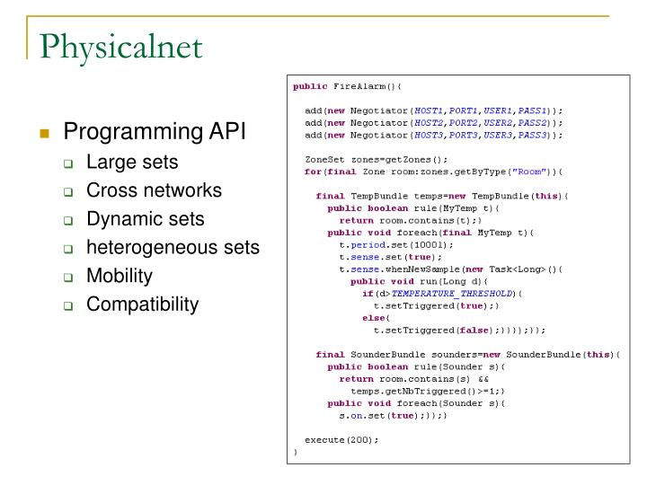 Programming API