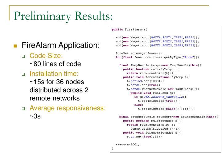 FireAlarm Application: