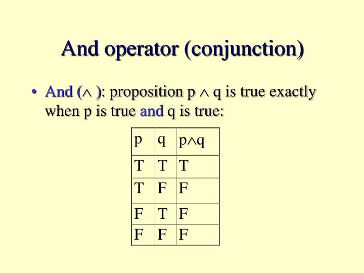 And operator (conjunction)