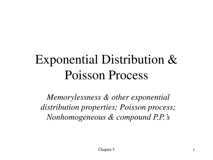 exponential distribution poisson process n.