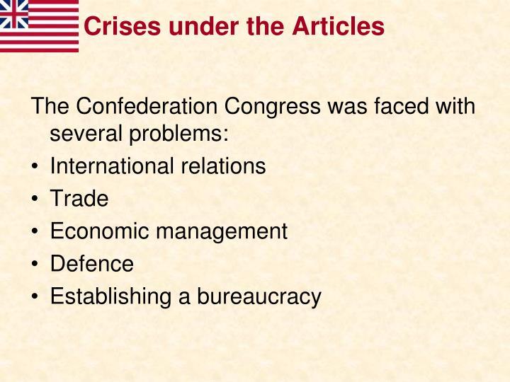 Crises under the Articles