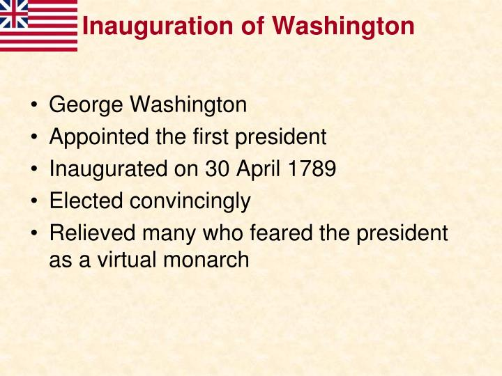 Inauguration of Washington