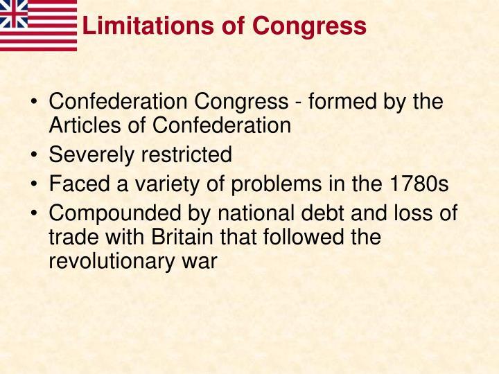 Limitations of Congress