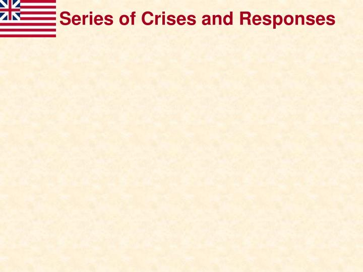 Series of Crises and Responses